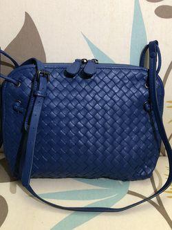 Vintage Bottega Veneta Intrecciato Nappa Nodini Bag Blue for Sale in Newport Beach,  CA