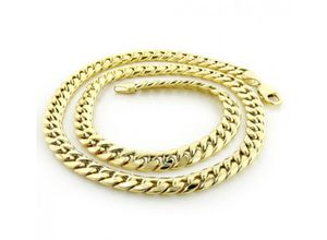 MENS 14K YELLOW GOLD MIAMI CUBAN LINK CURB CHAIN 8MM WIDE 22IN-40IN LONG for Sale in Clairton, PA