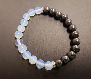 NATURAL STONE - OPAL Magnetic Hematite Hematite Bracelet (reduce stress & anxiety, Help dating , marriage & family life, blood circulation(see photos) for Sale in Rancho Cucamonga, CA