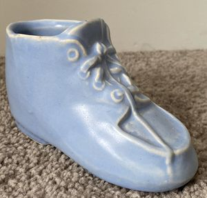 HANDMADE SHOE BOOT ART FLOWER PLANT VASE POTTERY HOME DECOR ACCENT for Sale in Chapel Hill, NC
