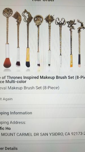 Makeup brush set 8 piece Game of Thrones for Sale in San Diego, CA