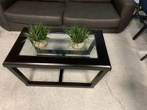 Beautiful Glass in cherry wood small coffee table...Excellent condition… for Sale in Las Vegas, NV