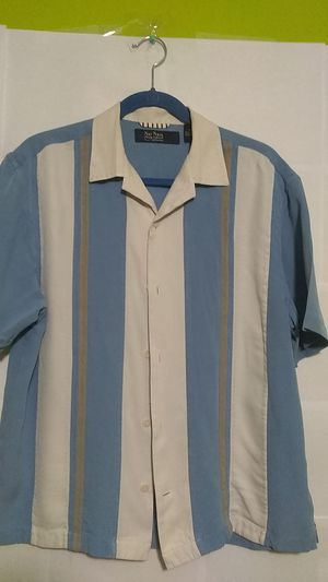 #45 Nat Nast men's medium short sleeve shirt - Luxury Originals, 100% Silk! for Sale in Garden Grove, CA