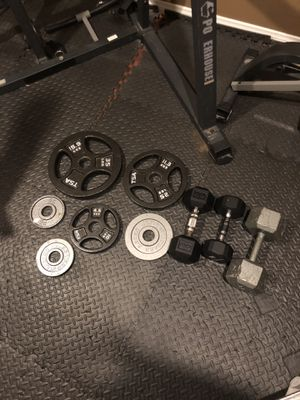 Weights and barbell for Sale in Woodbridge, VA