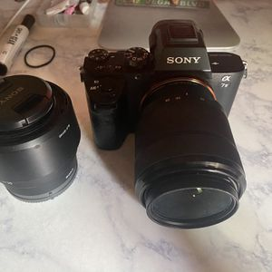 Sony A7ii With 2 Lenses And Backpack for Sale in Murrieta, CA