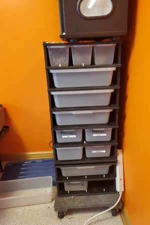 2 reptile racks with heat tape and monitor for Sale in Centreville, VA