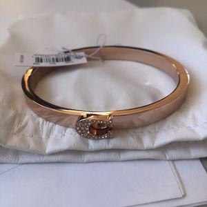 BRAND NEW/ COACH Rose Gold hinged bangle for Sale in San Bernardino, CA
