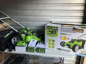 Greenworks 20-Inch 40V Twin Force Cordless Lawn Mower, 4.0 AH & 2.0 AH Batteries Included 25302 for Sale in Las Vegas, NV