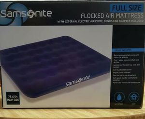 Samsonite flocked air mattress for Sale in Woodbridge Township, NJ