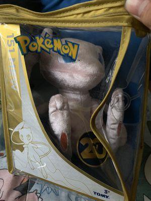 Mew and pikachu Pokémon 20th anniversary plushie for Sale in Santa Ana, CA