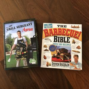 New! BBQ Cookbook and Grill Sergeant Apron for Sale in Olathe, KS