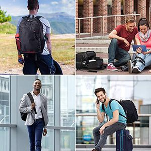 """Brand New $15 OMORC Anti-Theft Laptop Backpack w/ Lock Waterproof Travel Bag USB Charging Port Fit 15"""" Notebook for Sale in Montebello, CA"""