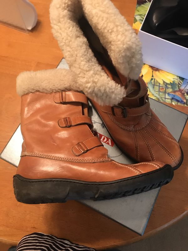 Gommus leather snow boots
