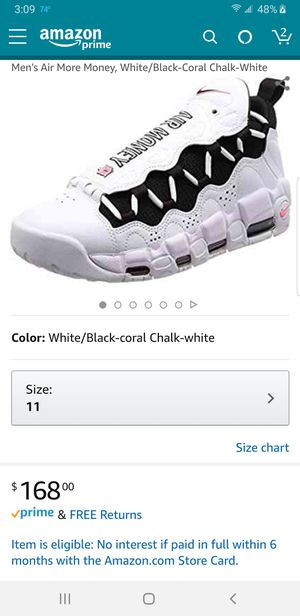 """Size 11 MENS """"Nike Air More Money"""" (BRAND NEW NO BOX) for Sale in Chicago, IL"""