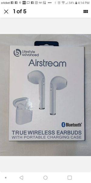 Airstream true wireless earbuds White for Sale in Durham, NC