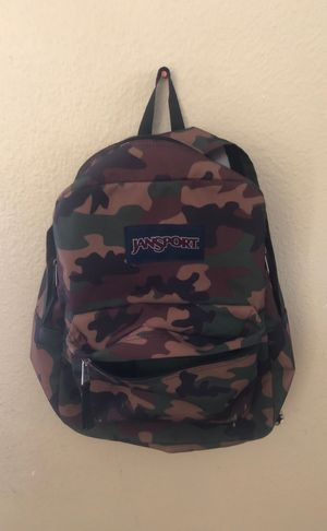 Camouflage Jansport backpack for Sale in San Diego, CA