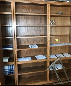 Oak bookshelves great condition. Very tall for Sale in Riverside, CA