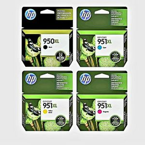 4 HP XL 950 and 951 Ink Cartridges for Sale in Coram, NY