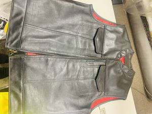 415 clothing leather motorcycle vest for Sale in Hawthorne, CA
