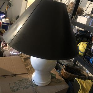 Lamp with black shade for Sale in McLean, VA