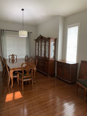 Dining table, hutch and buffet for Sale in Edgewood, WA