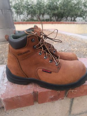 New red wings steel toe work boots size 8.5 for Sale in Riverside, CA