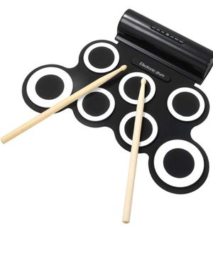 Electronic Drum Set Roll Up Drum Pads IWORD Midi Drum Kit With Headphone Jack Portable Practice Drum Kit Drum Pedals Drum Sticks 10 Hours Playtime for Sale in Elk Grove Village, IL