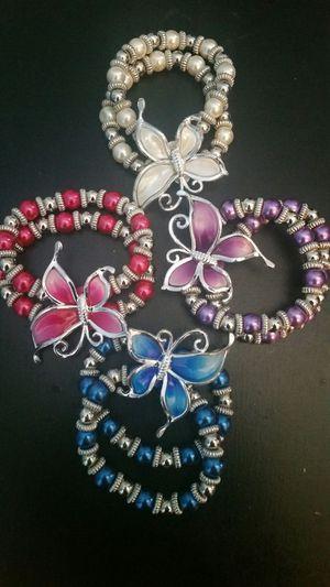 Beautiful beaded butterfly bracelets for Sale in Lynchburg, VA