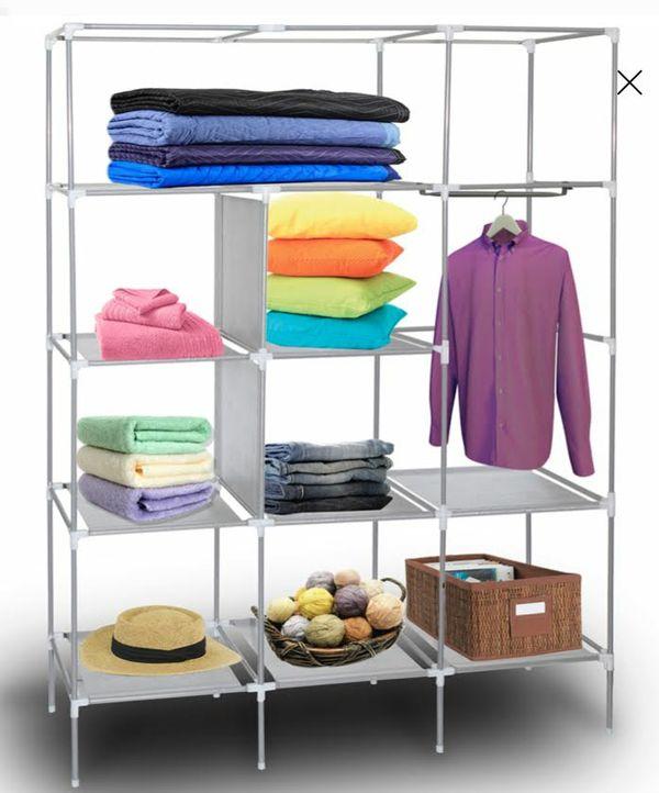 Wardrobe Closet Storage Shelves Organizer with Fabric Cover