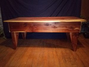 Solid cedar finished coffee table for Sale in Lena, LA