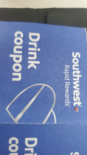 Southwest Airlines SW SWA Drink coupon ×4 for Sale in Deerfield Beach, FL