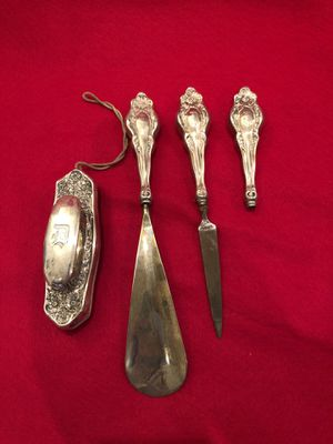 Antique Sterling Silver Dresser Set for Sale in Douglassville, PA
