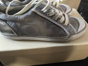 Silver coach shoes for Sale in Byron Center, MI