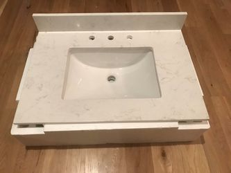 Home Decorators 31 in. W Engineered Marble Single Vanity Top in Vanilla Sky with White Sink for Sale in Apex,  NC