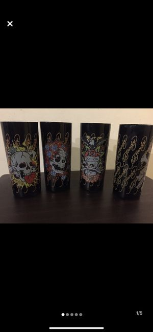 Ed Hardy drinking glass set for Sale in Fort Lauderdale, FL