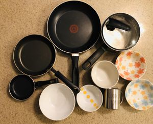 Pots and pans and dishes for Sale in San Diego, CA