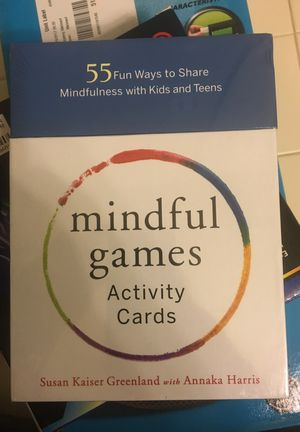 Mindful Games Activity Cards: 55 Fun Ways to Share Mindfulness with Kids and Teens for Sale in Woodbridge, VA