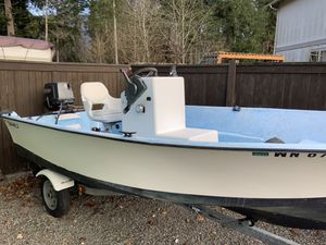 1995 sealaker 14ft boat with trailer 40 hp motor And Downriggers $2500 great fishing boat for Sale in Snohomish, WA