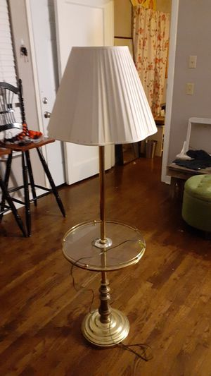 Antique lamp with glass tray for Sale in Austin, TX