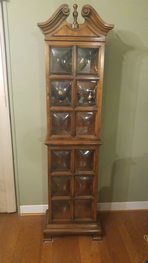 Antique Solid Wood Curio Closet for Sale in Baltimore, MD