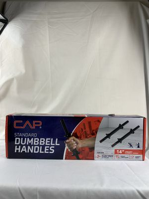 """CAP Barbell 14"""" Threaded Standard Dumbbell Handles ( Pair ) - NIB - Fast Ship for Sale in East Peoria, IL"""