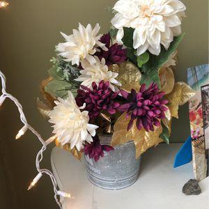 Forever Flowers In Tin Pot for Sale in Portsmouth, VA