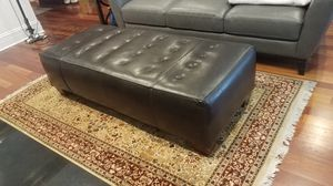 Z Gallerie Leather Ottoman for Sale in Chicago, IL