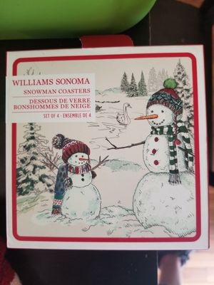 Williams Sonoma Set of 4 Snowman Coasters for Sale in Parkersburg, WV
