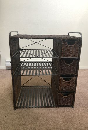 Small Wicker Cabinet/Storage Unit for Sale in Federal Way, WA