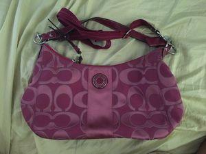 LIMITED EDITION MAGENTA COACH PURSE for Sale in Drexel Hill, PA