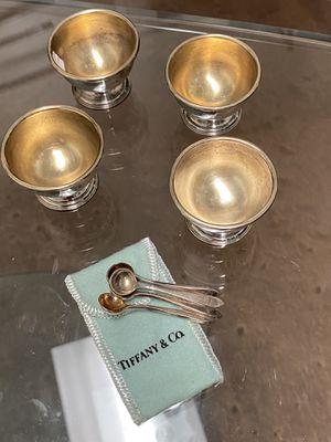 Sterling silver Tiffany salt cellars set of 4 for Sale in Farmers Branch, TX