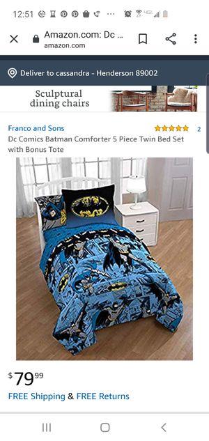 Batman twin size comforter set for Sale in Henderson, NV