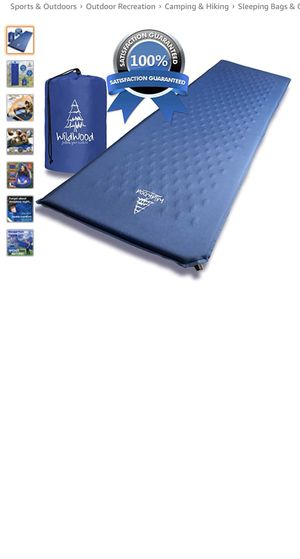 Wildwood Camping Pad Premium Inflatable Sleeping Mat Comfy Insulation Sleep Foam Easy to Use Great for Man Women Outdoor Hiking Backpacking (Blue) for Sale in Aventura, FL