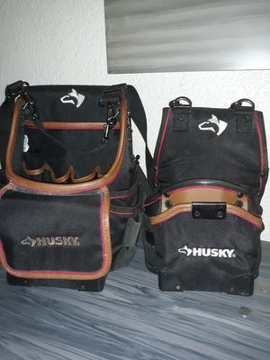 Husky drill poutch and tech pouch excellent condition both have shoulder straps for Sale in Savannah, GA